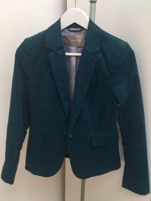 Orsay Blazer court bleu cadet velours côtelé
