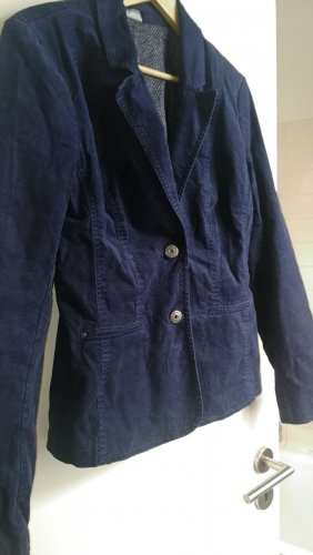 Street One Blazer in tweed blu