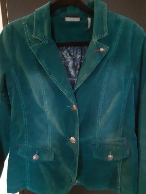 Street One Blazer in jeans petrolio-verde bosco