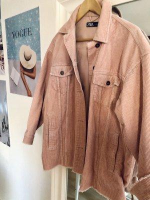 Zara Oversized Jacket rose-gold-coloured-pink