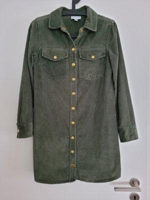 Warehouse Camisa de manga larga verde bosque-gris verdoso Algodón