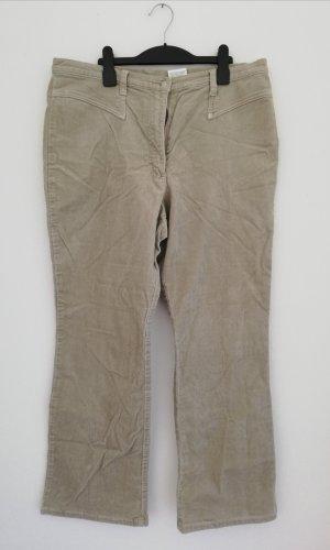 Pantalon en velours côtelé beige clair-beige