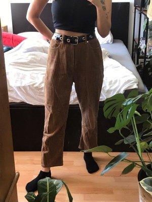 Weekday Pantalone di velluto a coste marrone chiaro