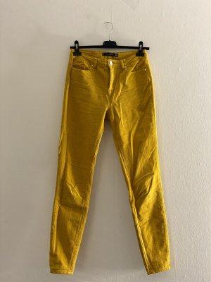 Amisu Pantalon en velours côtelé orange doré
