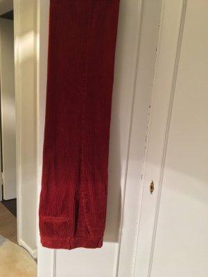 Zara Corduroy Trousers cognac-coloured