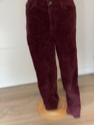 H&M Corduroy Trousers brown red