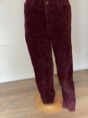 H&M Pantalón de pana rojo amarronado
