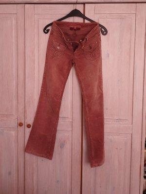 Edc Esprit Pantalon en velours côtelé or rose-mauve