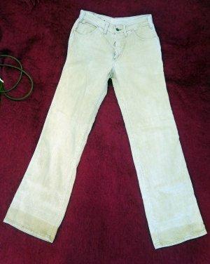 Miss Astor Pantalone di velluto a coste beige chiaro Cotone