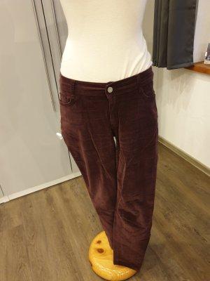 Pantalon en velours côtelé bordeau
