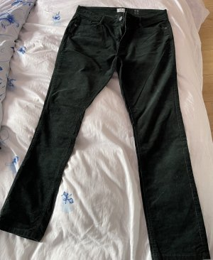Q/S Corduroy Trousers dark green corduroy