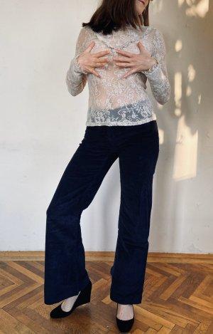 H&M Corduroy Trousers dark blue