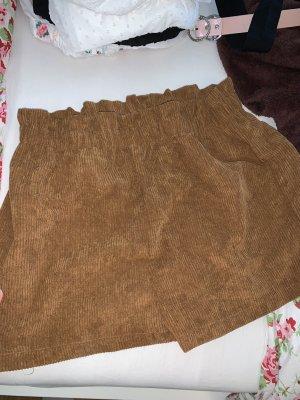 SheIn Pantalon en velours côtelé brun