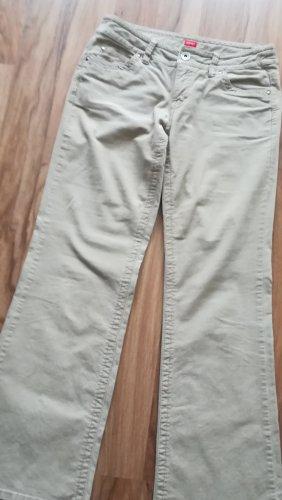 Cordhose, Gr. 38, von Esprit, beige, Gerades-Bein, Länge: 100cm, Breite 24cm