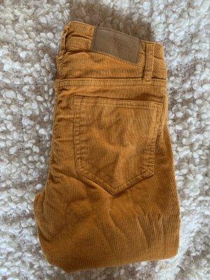 H&M Pantalon en velours côtelé orange clair-orange doré