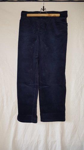 Sheego Pantalon en velours côtelé bleu