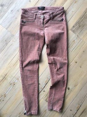 Maison Scotch Pantalon en velours côtelé rose chair