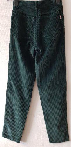 Pantalon en velours côtelé bleu pétrole