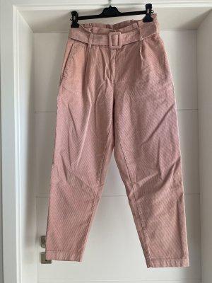 Vero Moda Pantalón de pinza alto rosa empolvado Algodón
