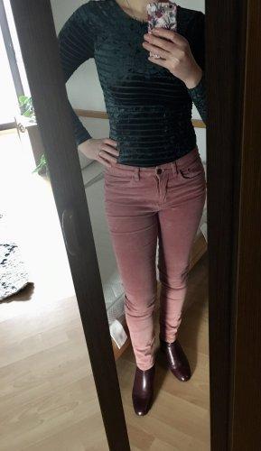 Blue Motion Pantalón de pana color rosa dorado