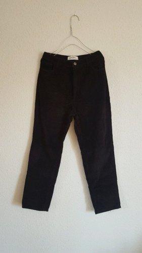 Zara Corduroy broek zwart Katoen