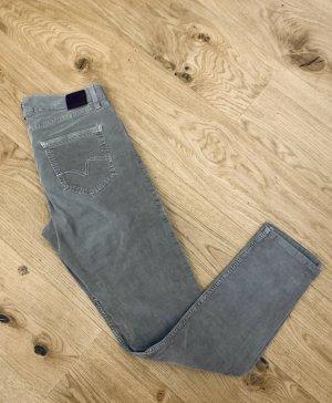 Bogner Pantalon en velours côtelé gris brun coton