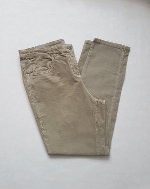 C&A Corduroy broek groen-grijs-beige