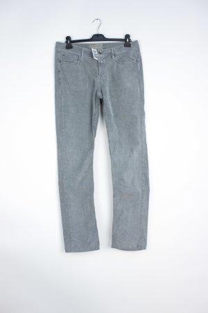Pantalon en velours côtelé gris clair