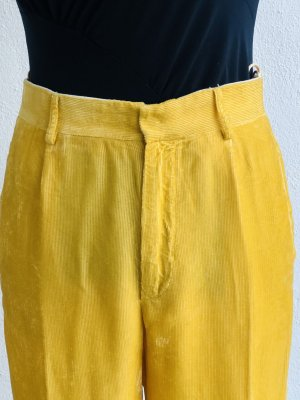 Forte Forte Corduroy Trousers yellow cotton