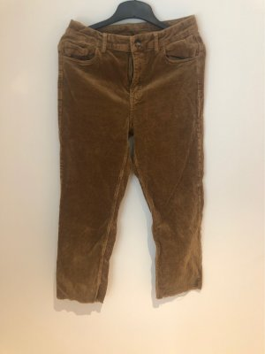 H&M Corduroy Trousers bronze-colored