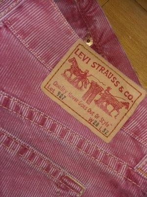 Levi's Pantalon en velours côtelé rose