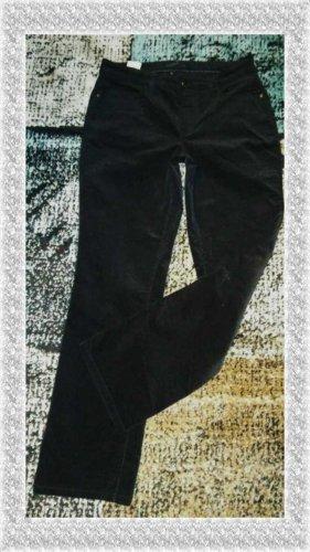 Mac Pantalone di velluto a coste nero Tessuto misto