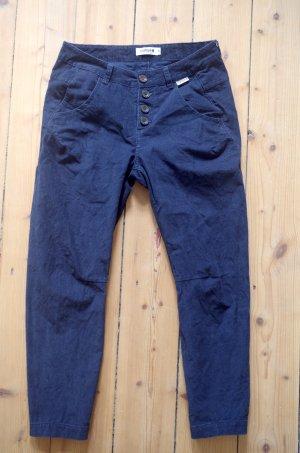 Maloja Pantalón de pana azul oscuro Algodón