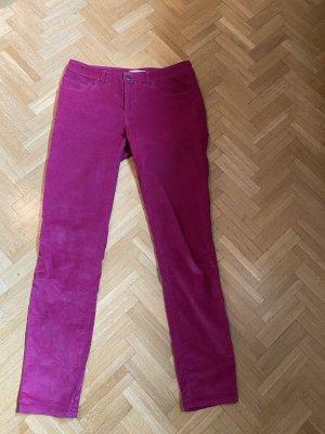 Stefanel Corduroy broek framboosrood-violet