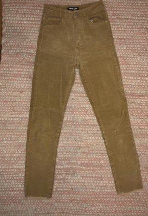 Tally Weijl Pantalon en velours côtelé marron clair-beige