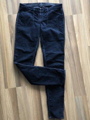 Gas Pantalón de pana azul oscuro Algodón