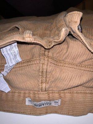 Pull & Bear Corduroy broek bordeaux-nude