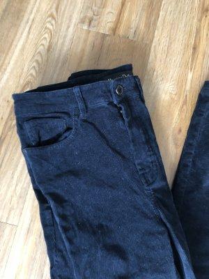 Massimo Dutti Pantalon pattes d'éléphant bleu foncé