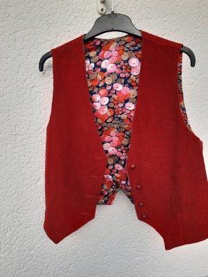 Boléro rouge brique coton