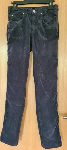 Armani Jeans Corduroy Trousers anthracite-dark blue cotton