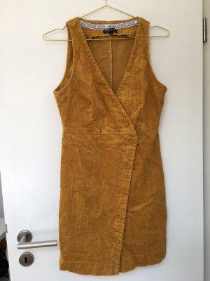 Review Sukienka mini złotopomarańczowy
