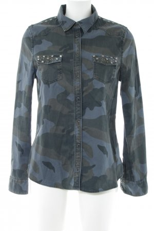 Cordon Shirt Blouse blue camouflage pattern casual look