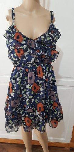 Cordon Flounce Dress blue