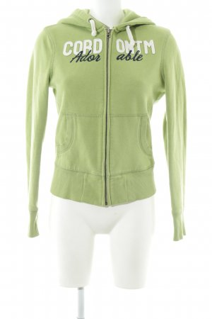 Cordon Sweat Jacket green-white embroidered lettering casual look