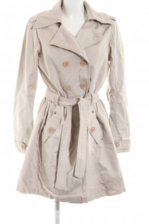 Cordon Trenchcoat wollweiß Casual-Look