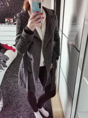 Cordon Wollen jas wit-grijs