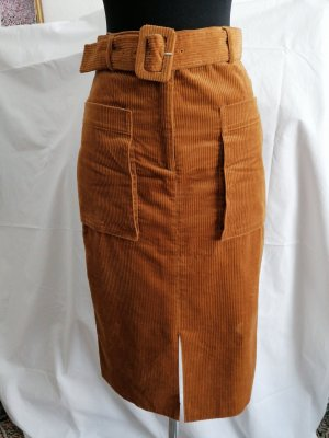 Yessica Ołówkowa spódnica cognac