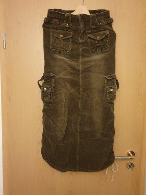 Spódnica militarna zielono-szary
