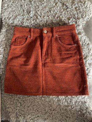 Cordrock Rot Orange Topshop Moto Größe 34