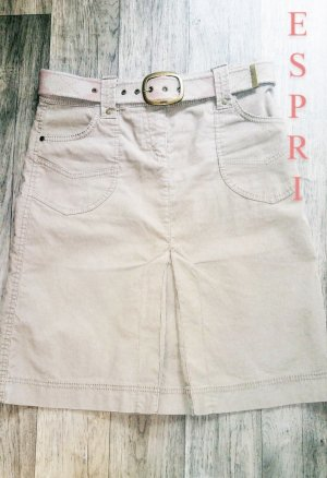 Esprit Asymetryczna spódniczka w kolorze białej wełny-jasnobeżowy